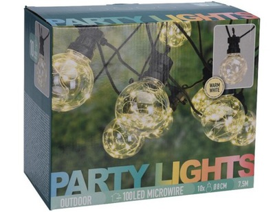 огни садовое лампы LED Цепь световой 7 ,5М
