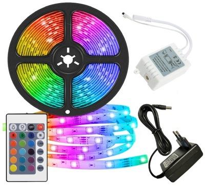 лента LED SMD водонепроницаемый 5М RGB КРАСОЧНЫЙ + пульт
