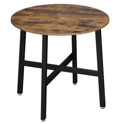 Mały stół do jadalni Industrialny Okrągły 80cm