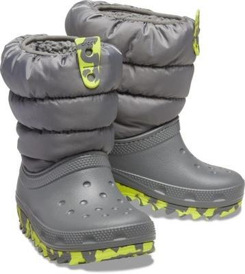 Śniegowce Buty Zimowe Dziecięce Ciepłe Crocs 27,5