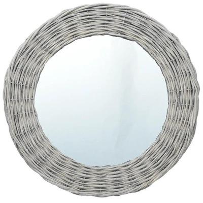 Okrúhle zrkadlo s prúteným rámom 70 cm