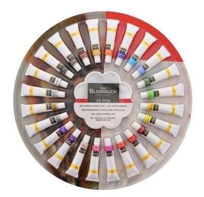 Краски Instagram комплект 24 штуки x 12 мл + палитра