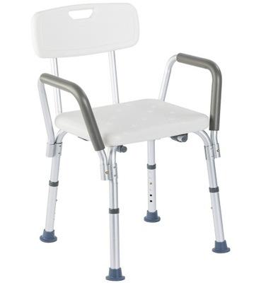 Krzesło prysznicowe z oparcia i uchwytami bocznymi