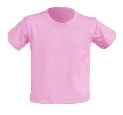 T-SHIRT DZIECIĘCY koszulka JHK jasny róż 0+ PK 80