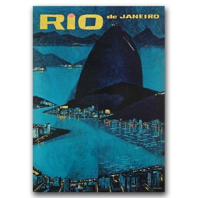 Plakat retro do salonu Rio de Janerio Brazylia A2