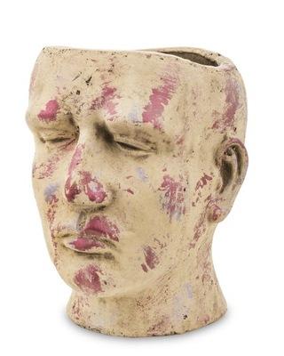 Osłonka twarz głowa doniczka dekoracyjna na kwiaty