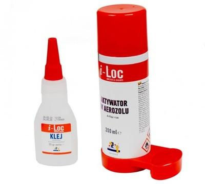 Klej Cyjanoakrylowy+aktywator I-LOC MDF Drewno MOC