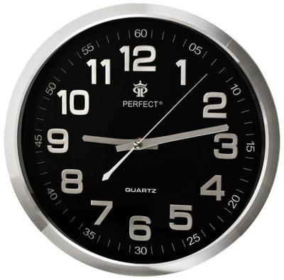 Czytelny Zegar Ścienny PERFECT Cichy Metalowy