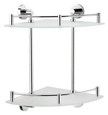 Półki łazienkowe Narożne Szklane