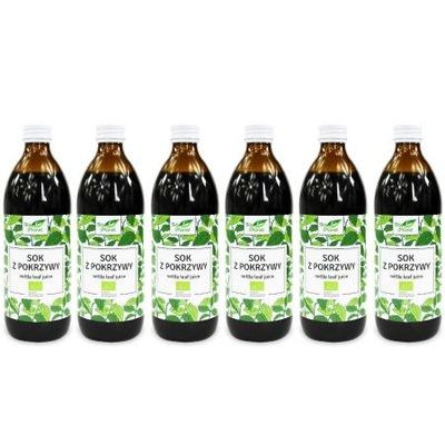 Sok z pokrzywy ZESTAW 6 x 500 ml Bio 3L Pokrzywa