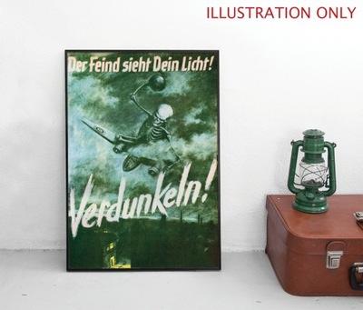 A2 Plakat Niemcy Zaciemniać Obrona powietrzna IIWS