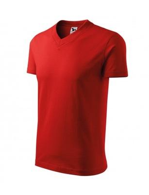 MALFINI Koszulka V-neck czerwony 3XL pod HAFT