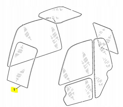 Szyba przednia czołowa ładowarka JCB 530,531,535