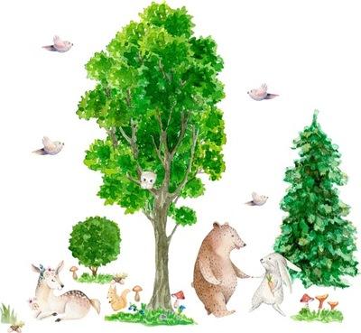 Samolepky na stenu pre deti Lesné stromy D177 200cm