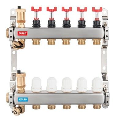 2-cestné oceľové potrubie termostat vč. a prúdiť