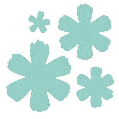 комплект ВЫКРОЕК - цветы 5 ,9 СМ X 5 ,9 СМ, 4 штук