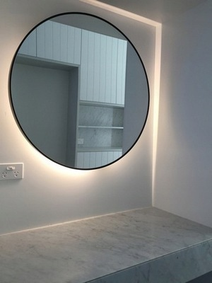 Okrúhle zrkadlové / kruhové LED svetlo v ráme 80 cm