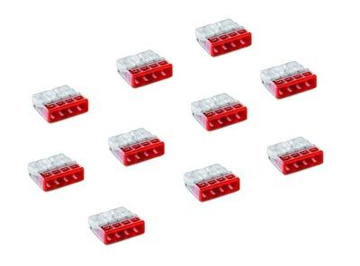 разъем клемма 2273-204 WAGO 4х2,5м 10 штук