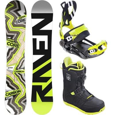 Zestaw Snowboard RAVEN Core Carbon 157cm