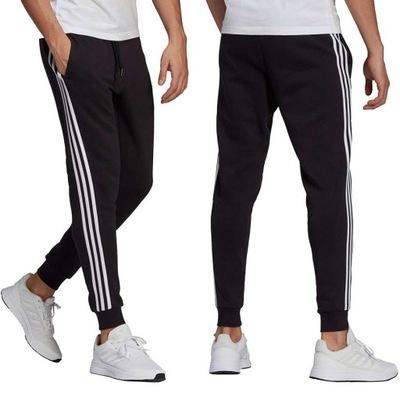 Spodnie dresowe Adidas męskie bawełniane dresy-M