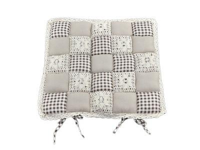 Poduszka na krzesło dekoracyjna 40x40 patchwork