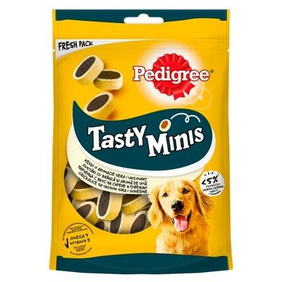 Родословной Tasty Сырный Bites Minis 140g ??? wołowin