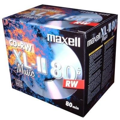 Płyty CD-RW Maxell Music XL-II AUDIO 80min 10sztuk