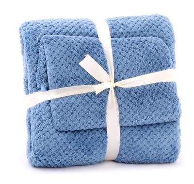 комплект полотенца из микрофибры 2шт Синий