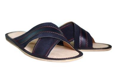Pantofle Kapcie Klapki Laczki MĘSKIE Skórzane 43
