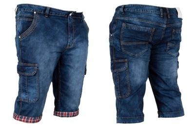 Krótkie spodnie męskie W:45 122 CM spodenki jeans