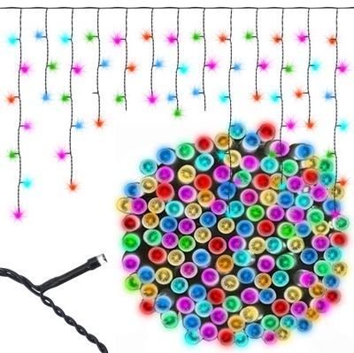Световая завеса Сосульки 200 LED + Гнездо + RGB