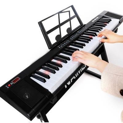 Elektroniczne Pianino z Mikrofonem 61-Klawiszowa