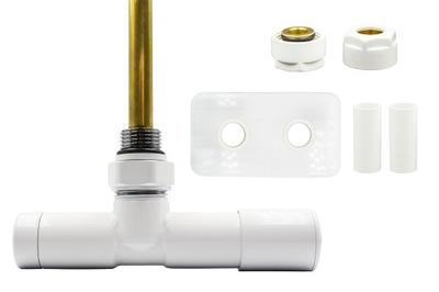 Regulačný ventil Unico 50 mm biely + vsuvky Cu + rozety vpravo