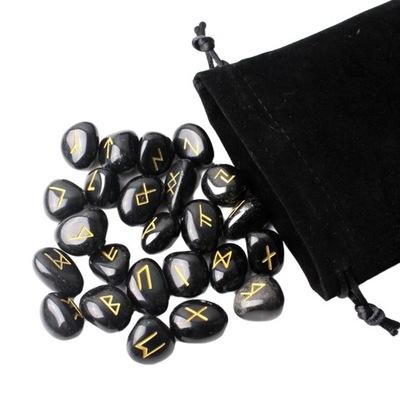 Naturalny kamień runy zestaw polerowany kamień
