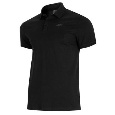 4F Koszulka Męska Polo TSM007 CZARNY T-Shirt M