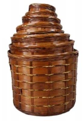 Osłonka doniczki pleciona Kosz Bambus Komplet 8 sz