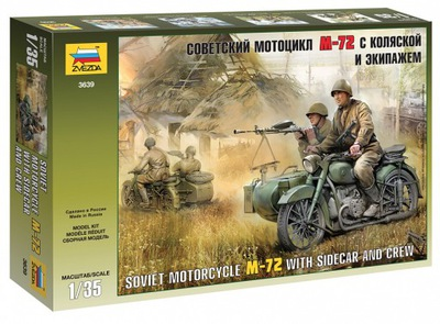 1:35 ZVEZDA 3639 SOVIET MOTORCYCLE M-72