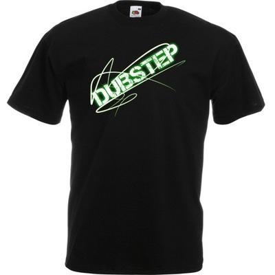 Koszulka z nadrukiem dubstep muzyka dub M czarna