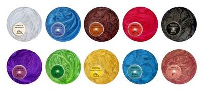 Barwnik perłowy zestaw 10 sztuk x 3 g do żywic