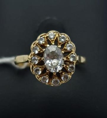Wyjątkowy złoty pierścionek P585 3,41g R21