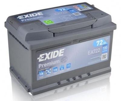 EXIDE PREMIUM FUTURA EA722 72Ah 720A