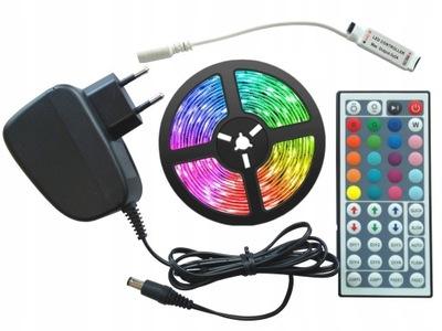 ZESTAW Taśma LED RGB PREMIUM 2m 60D 5050 BIAŁY