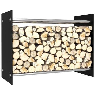 j9k stojan na palivové drevo, čierny, 80x35x60