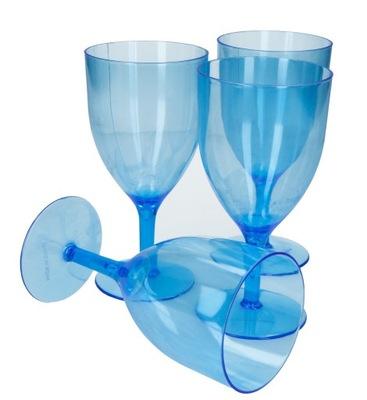 пластиковые бокалы синие 4 штуки