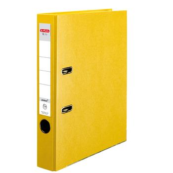 Segregator Herlitz A4 5,5 cm żółty Q.file