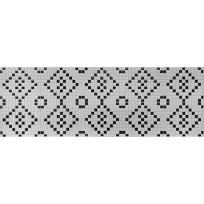 PŁYTKI ŚCIENNE mozaika biało-czarna połysk 25x75
