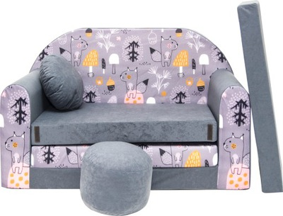 KANAPA SOFA rozkładana dla dzieci łózko poduszka