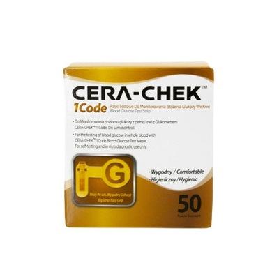 Cera-Chek 1Code 50 pasków testowych do glukometr