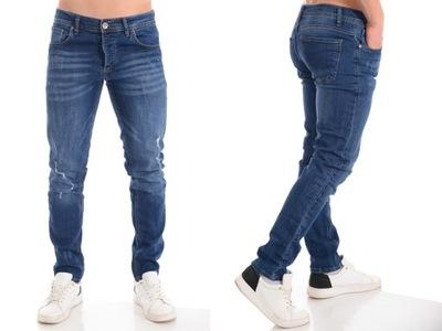 4044 Męskie Jeansowe Spodnie Niebieskie 31