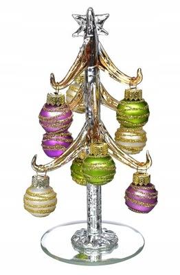 красивая стекло Елка 9 стеклянные шаров Декор